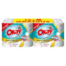 OKAY Okay essuie tout décor collector rouleau x16 +8offerts