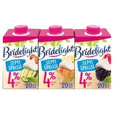Bridélight semi épaisse extra légère 5% mg  3x20cl