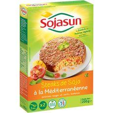Sojasun steak soja à la méditerranéenne 2x100g