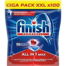 Finish tout en 1 mega pack dose powerball x100