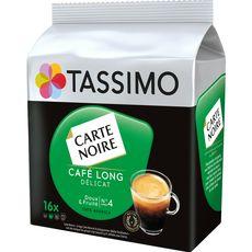 TASSIMO Dosettes de café Carte Noire café long délicat 16 dosettes 110g