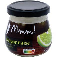 AUCHAN MMM! Mayonnaise au citron vert en bocal 125g