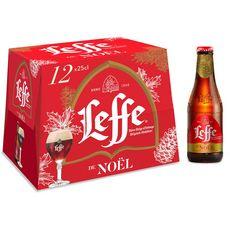 LEFFE Leffe bière de Noël ambrée 6,6% bouteilles 12x25cl 12x25cl