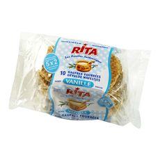 RITA Rita Gaufres fourrées goût vanille 10 gaufres 300g 10 gaufres 300g