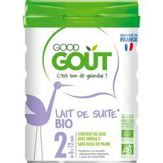 GOOD GOUT Good Goût bio lait infantile 2ème âge 800g