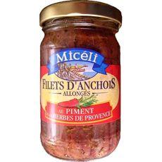 Miceli filets d'anchois allongés piment et herbes 105g