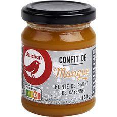 AUCHAN Confit de mangue pointe de piment de Cayenne 150g