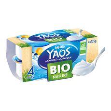YAOS Yaos yaourt à la Grecque bio nature 4x125g 4x125g