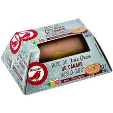 AUCHAN Bloc de foie gras de canard du Sud-Ouest avec morceaux 5 parts 200g