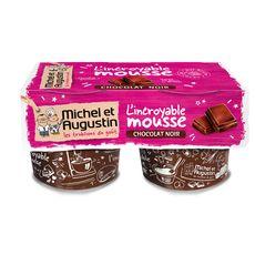 Michel et Augustin mousse au chocolat noir 2x120ml