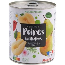 Auchan poires demi-fruits au sirop 850g