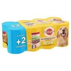 PEDIGREE Les cuisinés boîtes pâtée en sauce aux légumes pour chien 6x400g +2 offertes