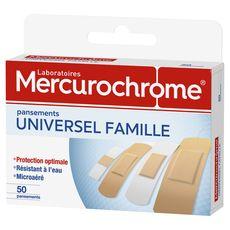 Mercurochrome pansement famille protection optimale x50