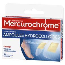 Mercurochrome pansements hydrocolloides ampoule 2formats x6