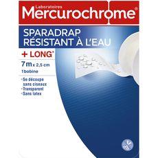MERCUROCHROME Sparadrap résistant à l'eau 7mx2,5cm 1 pièce