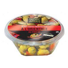 TROPIC APERO Olives vertes dénoyautées pimentées à l'orientale 110g