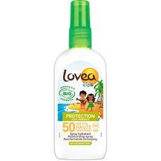 LOVEA Spray solaire hydratant bio pour enfants résiste à l'eau SPF50 100ml
