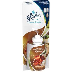 GLADE Sense & Spray recharge pour diffuseur automatique bois de santal & jasmin 18ml