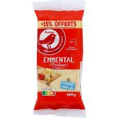 AUCHAN Emmental en portion 400g +15% offert