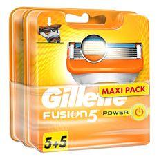 Gillette Fusion5 Power recharges lames de rasoirs x10