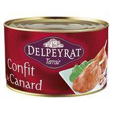 Delpeyrat confit de canard 4/5cuisses 1,350kg
