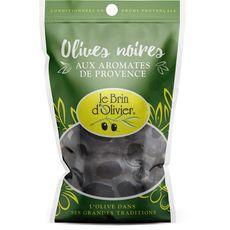 Le Brin d'Olivier olives noires aromates de Provence 150g