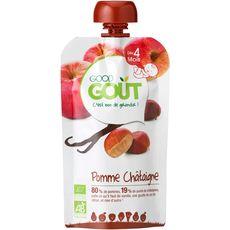 Good goût Gourde dessert pomme châtaigne bio dès 4 mois 120g