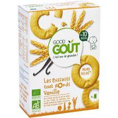 Good Goût GOOD GOUT Biscuits tout ronds à la vanille bio dès 10 mois