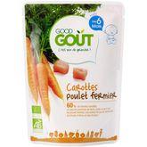 Good Goût bio carottes et poulet 190g dès 6mois