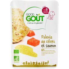 GOOD GOUT Bio céléri polenta et poisson dès 8 mois 190g
