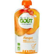 Good goût Gourde dessert à la mangue bio dès 4 mois 120g
