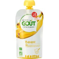Good goût Gourde dessert banane bio dès 4 mois 120g