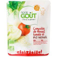 GOOD GOUT Compotée fenouil tomates riz basmati bio dès 12 mois 190g