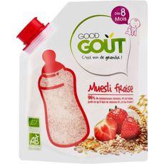 GOOD GOUT Muesli de céréales à la fraise bio en poudre dès 8 mois 200g