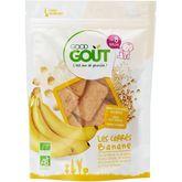 Good Goût Good goût Goûter biscuits carrés à la banane bio dès 8 mois 50g