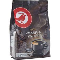 AUCHAN Auchan Café en grains espresso 100% arabica 500g 500g