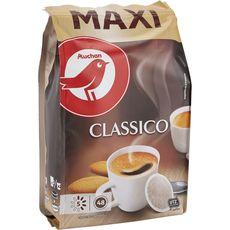 AUCHAN Dosettes de café classico compatibles Senseo 48 capsules 333g