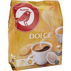 Maison du Café AUCHAN Dosettes de café doux compatibles Senseo