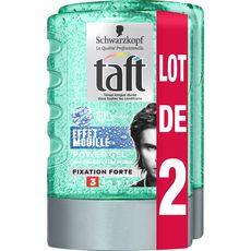 Taft power gel effet mouillé 2x300ml