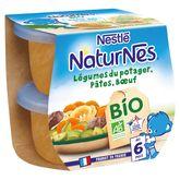 Nestlé Nestlé Naturnes bol légumes du potager pâtes boeuf bio dès 6 mois 2x130g