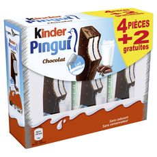 KINDER Kinder pingui chocolat 4x30 +2offerts
