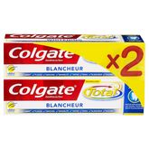 Colgate dentifrice total+ blancheur 2x75ml