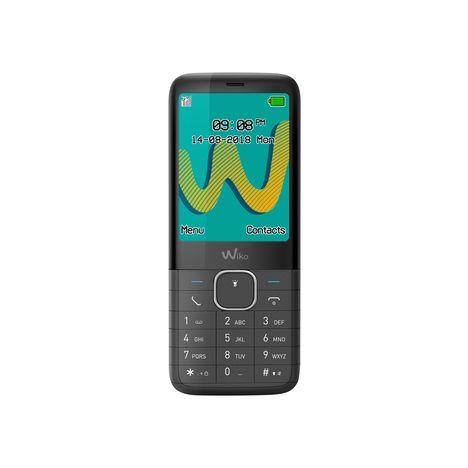 WIKO Téléphone portable Riff 3 - Double sim - Noir