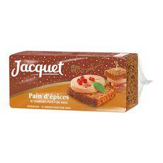 JACQUET Jacquet Pain d'épices pour foie gras tranches x16 350g 16 tranches 350g