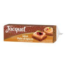 JACQUET Mini pain d'épices pour foie gras 14 tranches 140g