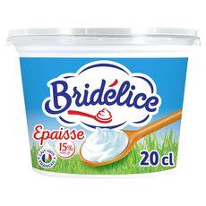 Bridélice crème fraîche épaisse 15%mg 199g