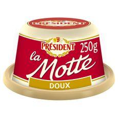 Président beurre doux motte 250g