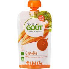 Good goût Gourde carotte bio dès 4 mois 120g