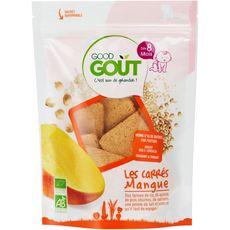 Good Goût GOOD GOUT Goûter biscuits carrés à la mangue bio dès 8 mois