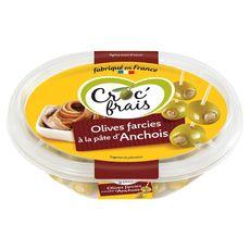 Croc'Frais olives farcies pâte d'anchois 200g